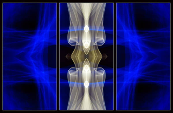 Photograph - Light Painting Abstract Triptych #7 by John Williams