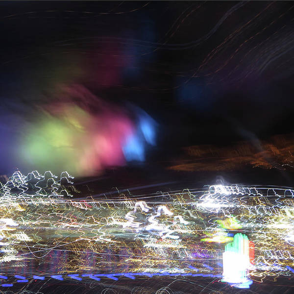 Photograph - Light Paintings - No 1 - Lightning Squared by Kathy Corday