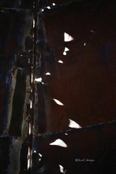 Photograph - Light Patterns Inside A Silo by Kae Cheatham