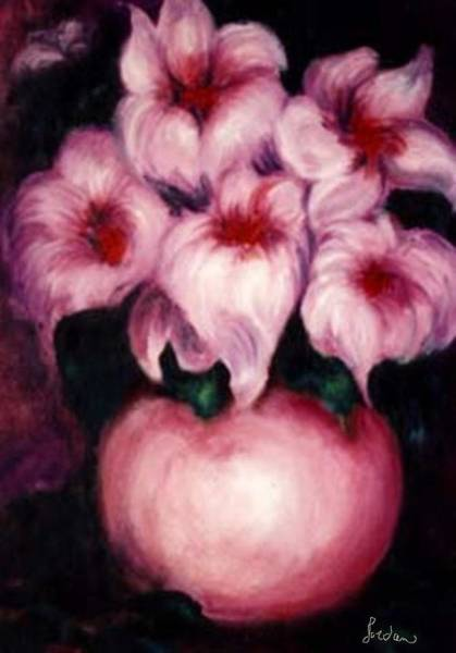 Painting - Light Pink Puffs by Jordana Sands