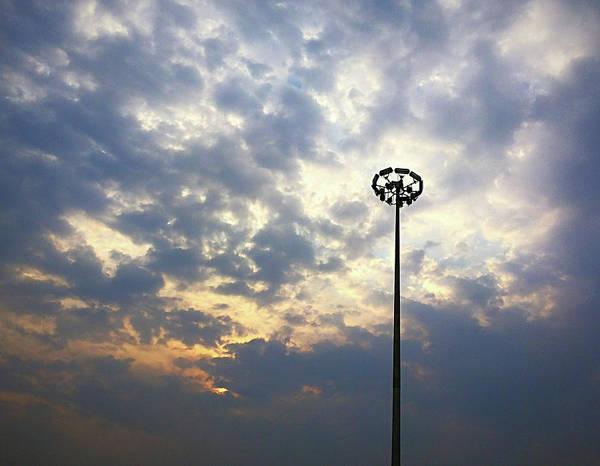 Photograph - Light Pole by Atullya N Srivastava