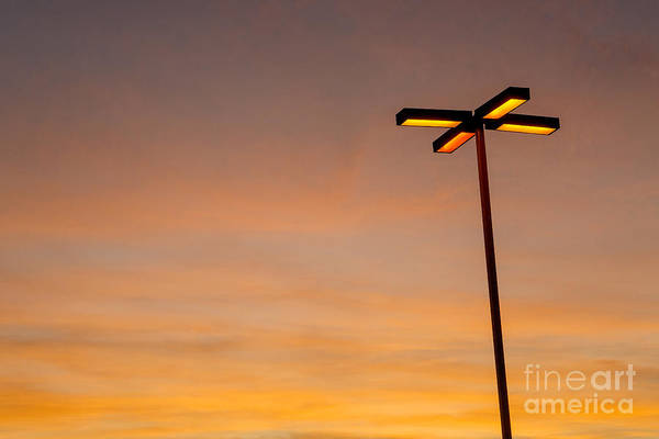 Wall Art - Photograph - Light Pole Glowing At Dusk  San Diego, California by Julia Hiebaum