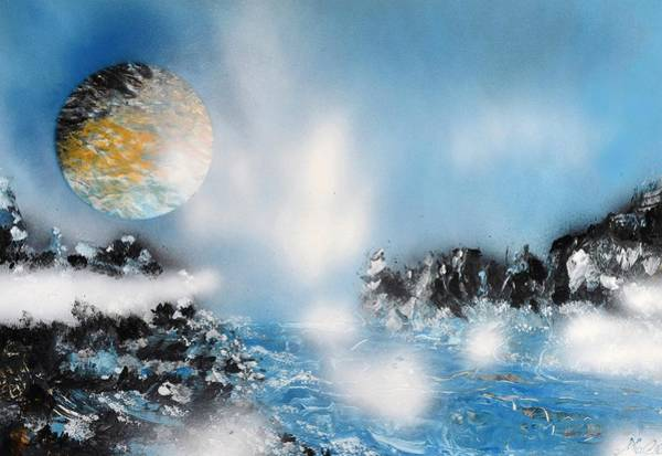 Wall Art - Painting - Light Rain by Nandor Molnar