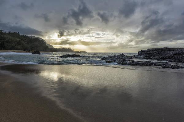 Photograph - Light Shining On The Beach by Jon Glaser
