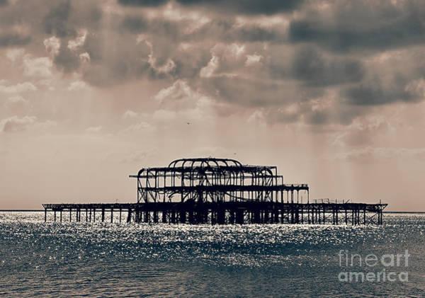 Brighton Pier Photograph - Light Shower by Jasna Buncic
