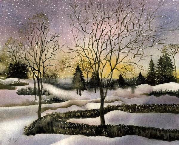 Painting - Light Snow In The Morning by Alfred Ng