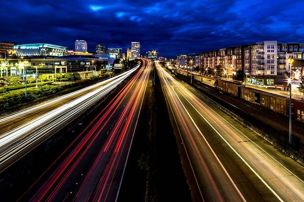 Photograph - Light Streaks On 705 by Rob Green