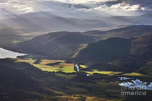 Highland Light Photograph - Light Streams, Kinloch Rannoch by Rod McLean