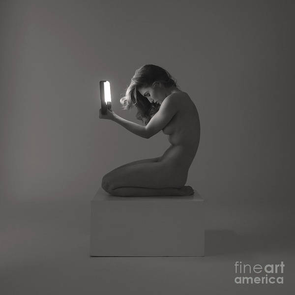 Photograph - Light Study - Kneeling by Clayton Bastiani