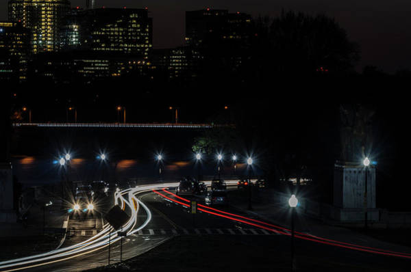 Photograph - Light Trails 1 by Stewart Helberg