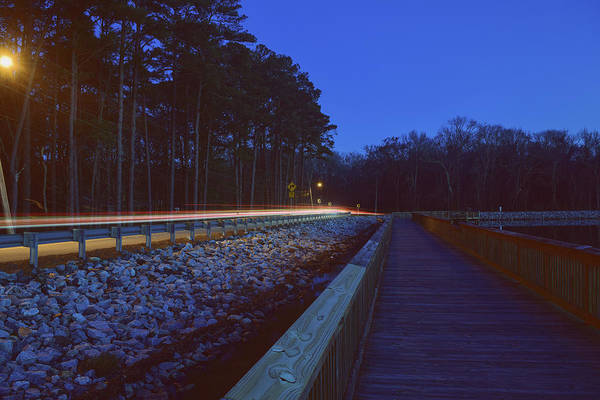 Photograph - Light Trails On Elbow Road by Nicole Lloyd
