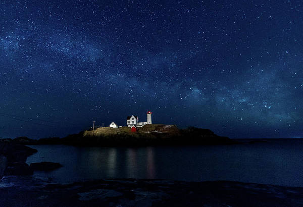 Photograph - Light Up Nubble Lighthouse by Darryl Hendricks