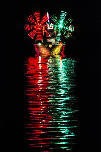 Photograph - Lighted Boat Parade 2 by Bob Slitzan