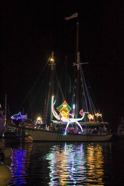 Photograph - Lighted Boat Parade 3 by Bob Slitzan