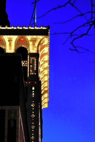 Photograph - Lighted Roofline by Jerry Sodorff