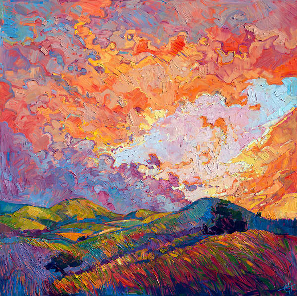 Wall Art - Painting - Lighted Sky by Erin Hanson