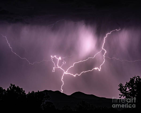 Photograph - Lightening In The Hills by Steven Natanson
