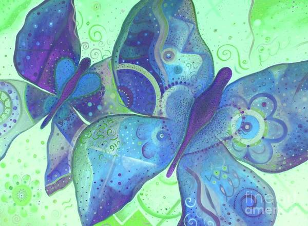 Painting - Lighthearted In Blue by Helena Tiainen