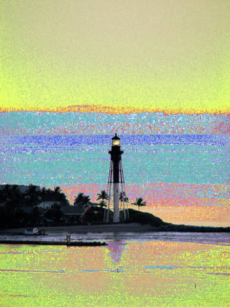 Luminous Florida Yellow At Hillsboro Lighthouse Art Print