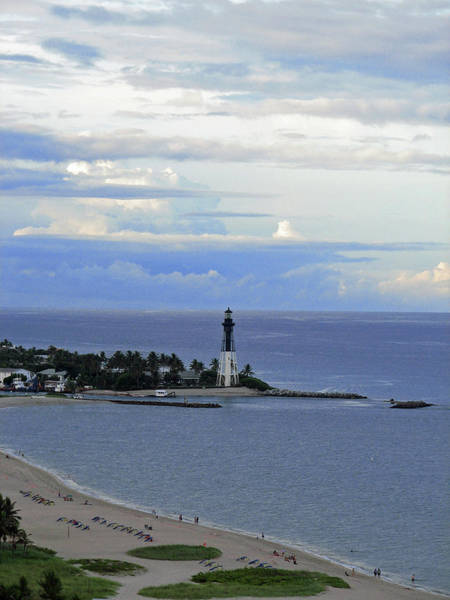 Photograph - Lighthouse And Light Blue by Corinne Carroll