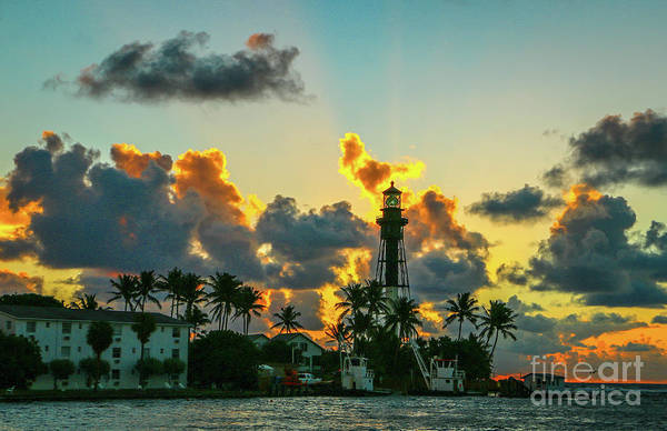 Photograph - Lighthouse And Morning Sky by Tom Claud
