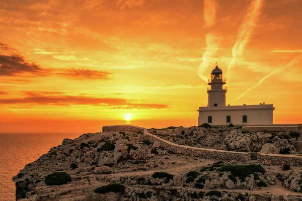 Photograph - Lighthouse At Cabo De Cavalleria - Menorca, Spain by Nico Trinkhaus
