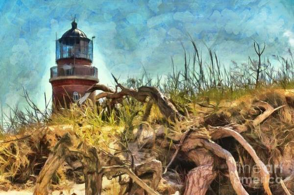 Digital Art - Lighthouse At Darsser Ort 2015 by Kathryn Strick