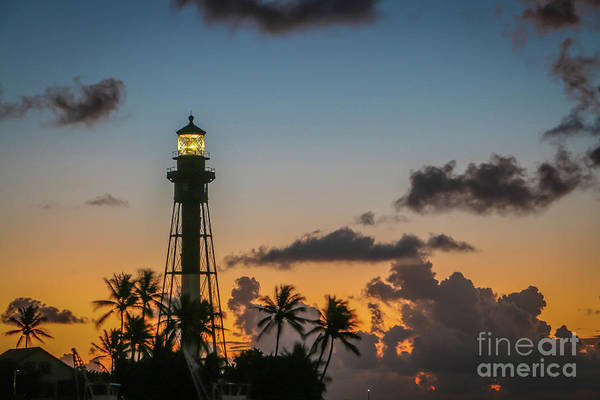 Art Print featuring the photograph Lighthouse At Dawn #1 by Tom Claud