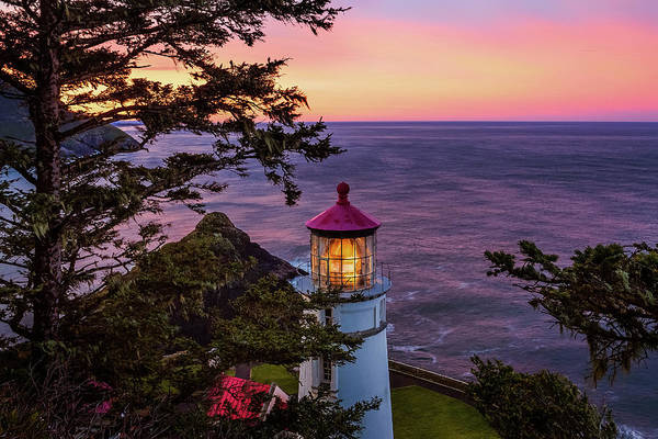 Wall Art - Photograph - Lighthouse At Dawn by Andrew Soundarajan