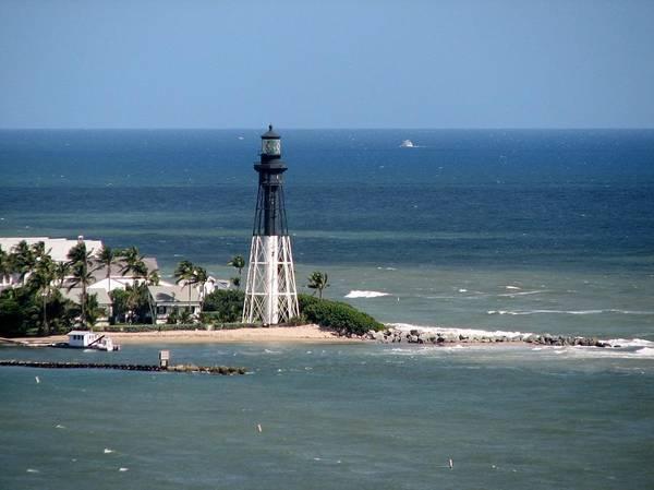 Photograph - Lighthouse At Hillsboro Beach, Florida by Corinne Carroll