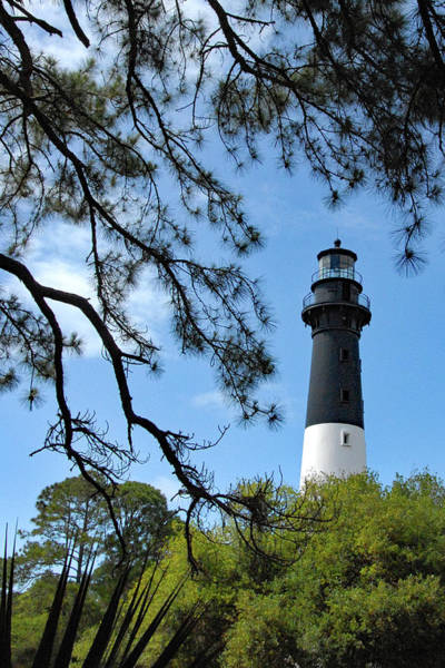 Hunting Island Lighthouse Wall Art - Photograph - Lighthouse At Hunting Island by Jerry Griffin