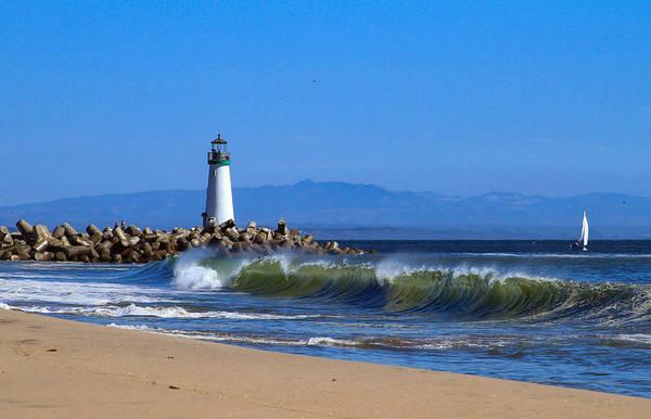 Photograph - Lighthouse At Seabright Beach by Bonnie Follett