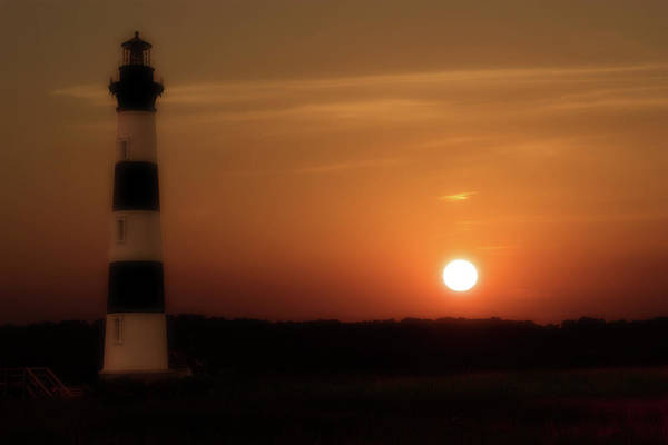 Virginia Lighthouse Photograph - Lighthouse At Sunset  by Randy Steele