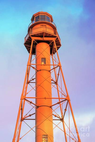 Wall Art - Photograph - Lighthouse At Sunset Sanibel Island Captiva Island by Edward Fielding