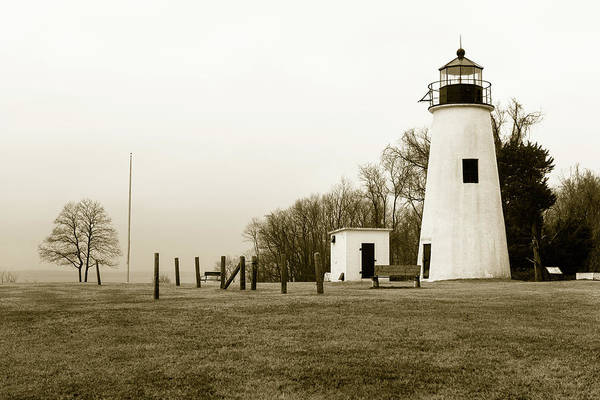 Photograph - Lighthouse At Turkey Point by Dennis Dame