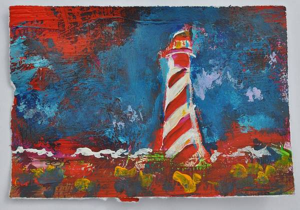 Painting - Lighthouse Burgh Haamstede Rede Impression by Eduard Meinema