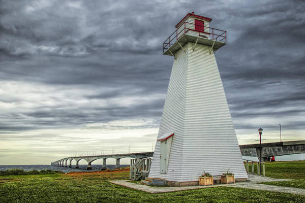 Photograph - Lighthouse By The Confederation Bridge On Pei by Randall Nyhof