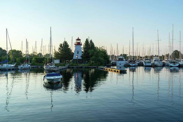 Photograph - Lighthouse Daybreak At The Yacht Club by Georgia Mizuleva