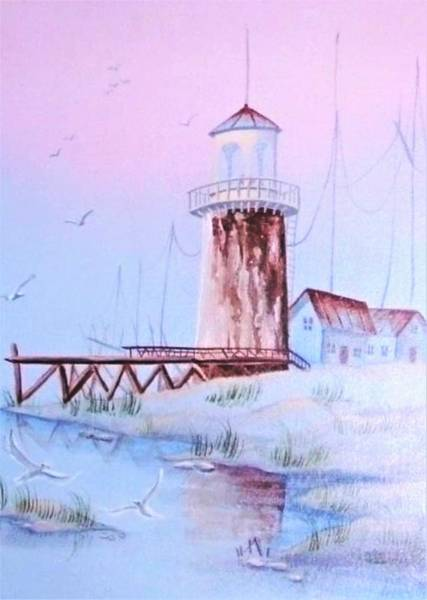 Painting - Lighthouse by Denise F Fulmer
