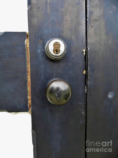 Photograph - Lighthouse Doorknob And Lock by D Hackett