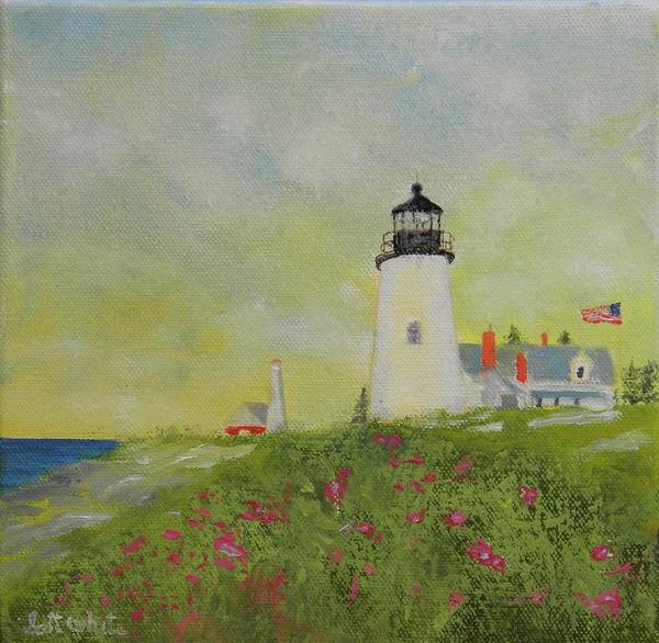 Painting - Lighthouse From Below by Scott W White