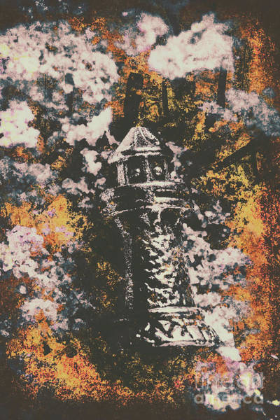 Lighthouse From Rust Harbour Art Print