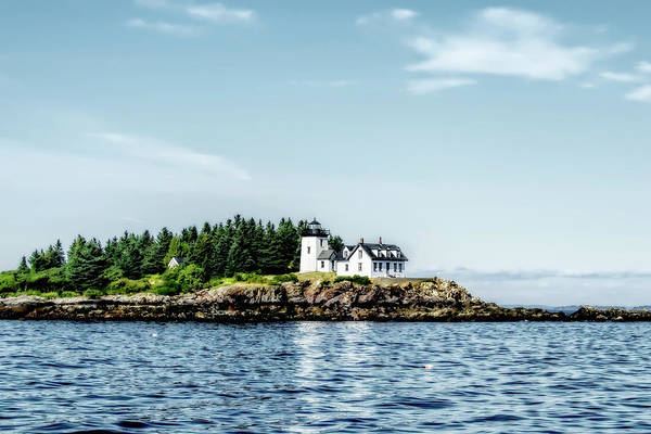 Photograph - Lighthouse On Maine's Rocky Shores by Kay Brewer