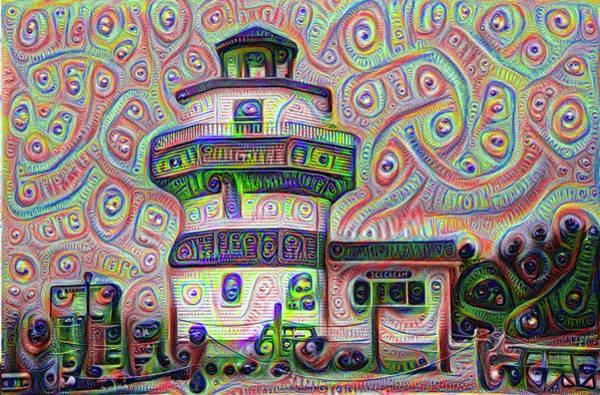Digital Art - Lighthouse Ice Cream Shop - Wildwood Crest by Bill Cannon