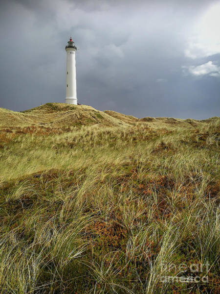 Photograph - Lighthouse In A Rainstorm by Kim Lessel