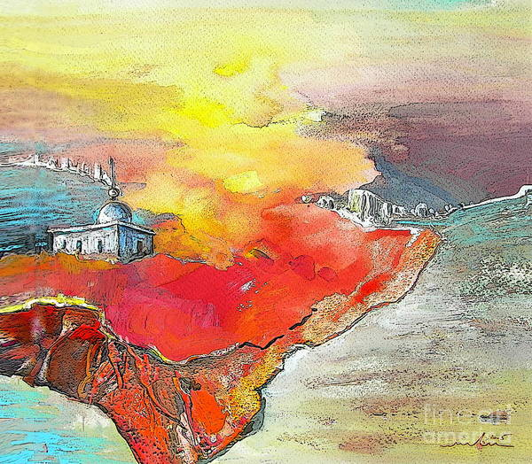 Benidorm Wall Art - Painting - Lighthouse In Albir On The Costa Blanca by Miki De Goodaboom