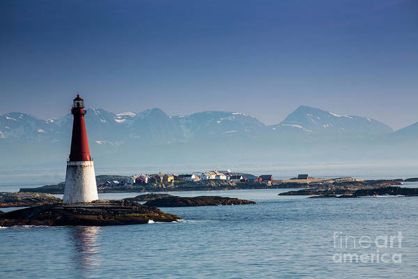 Wall Art - Photograph - Lighthouse In Fjord, Norway by Sheila Smart Fine Art Photography