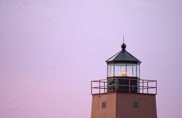 Charlevoix Photograph - Lighthouse In Lavender by LuAnn Griffin