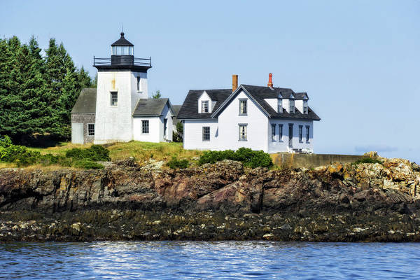 Photograph - Lighthouse In Maine Waters by Kay Brewer