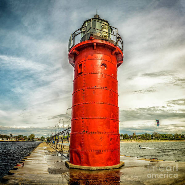 Photograph - Lighthouse In South Haven by Nick Zelinsky